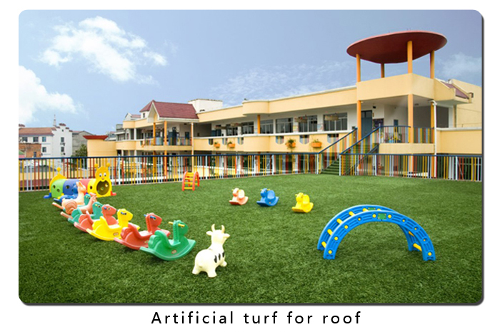 Artificial turf for roof