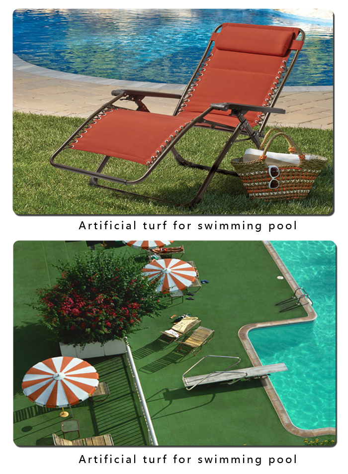 Artificial turf for swimming pool