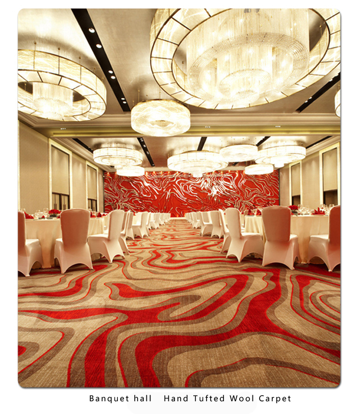 Banquet hall Hand Tufted Wool Carpet