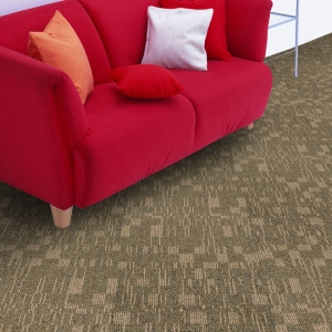 High Low Loop Pile Nylon66 Carpet Tile with PVC Back